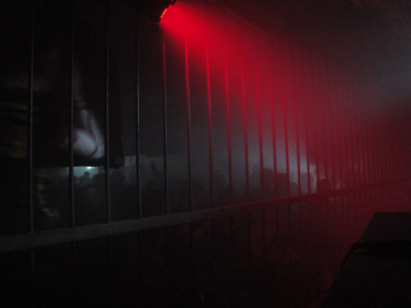 Bars in front of the Tresor dj booth