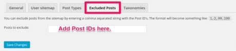 Yoast SEO excluded posts